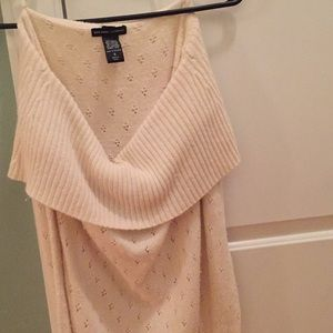 Off the shoulder scooped sweater